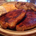 Red Chile Pork Chops and Eggs