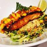 Asian Rice Bowl with Beeriyaki Glazed Salmon