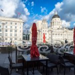 Matou terrace with view of Canada House and Cunard Building.