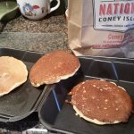 Here is a view of all the three overcooked pancakes!