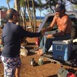 Road to Hana, banana bread stop with Bruce, black beach, Hawaiin Sea Turtles.
