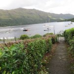 The path to the shore of Loch Lomond.