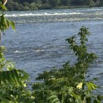 Saint Lawrence River with rapids in the distance