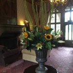 One of the many flower arrangements
