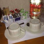 The complimentary refreshments.