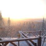 Vu du camp rustique La Cigale et magnifique levé de soleil