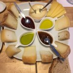 Cheese and oil and fruit