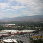 This is what the mountain view would look like from a room on a higher floor
