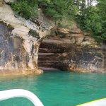 cave along Grand Island