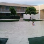 Courtyard- turns into kid pool when it rains