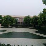 courtyard floods when rains- standing water