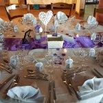 Salle de réception et repas mariage