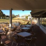 Nice place to relax on the deck overlooking the golf cours and accommodation