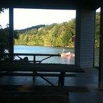 Boating on lake
