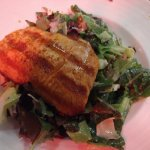 Grilled salmon over a Greek salad!