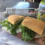 Italian sandwich lunch