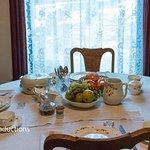 President Reagan ate here on White House dinnerware when his boyhood home was dedicated