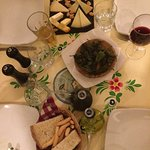 Cheeseboard and padron peppers