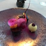 Not keen, beetroot and goats cheese, again beautiful presentation