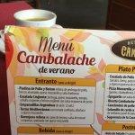 Menú Cambalache