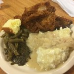 Fried chicken, ribs, mashers, gravy and greens oh my!