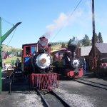 both trains at depot