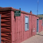 restrooms at depot are in an old railcar