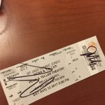 signed ticket