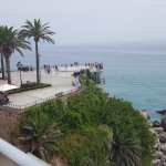 The Balcon de Europe promenade from the room balcony