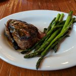 I had high hopes, but the steak was not cooked properly and the asparagus was not seasoned.