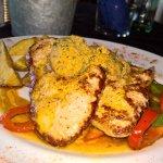 Pork Filet, potato wedges, Café du Paris butter and veggies 4