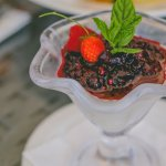 Panna cota & citrus berries