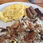 Eggs, Pork Sausage and Hash Browns