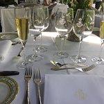 Elegant set up for Sunday brunch