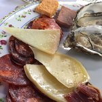 Jamon and seafood for a starter