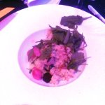 this was the veggie main course for a £33 meal - stodgy, lukewarm risotto