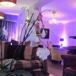 Lounge bar area, very comfortable and plush