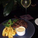 My steak bar meal - lush!!