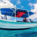 Our boat today, diving Playa del Carmen with happy divers