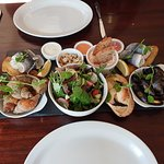Seafood platter to share