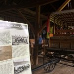 The civil war ambulance exhibit in the shed - Pry House Field Hospital Museum