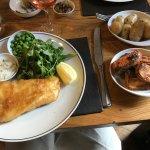 fish and sweet potatos