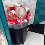 """THE"" bin that at least 5 staff members avoided emptying... Truly revolting."