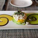 Lump crab tower appetizer