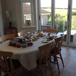 Enjoy breakfast in light & airy room overlooking garden and countryside