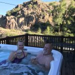 Some of the cabins have hot tubs!