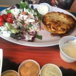 Salmon deep fried tacos, Prawn fried taco and the Crawfish pot pie. Food was fresh and everythin