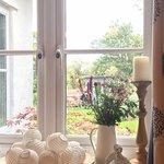 From the dining room, more flowers & over looking the Garden