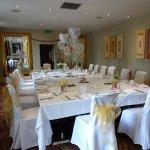 Family diamond wedding celebration meal