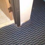 rug is torn
